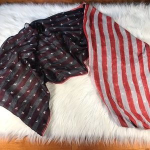 American flag scarf Stars and Stripes lightweight